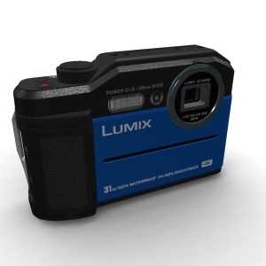Panasonic Lumix {DC-FT7}{DC-TS7} Blue