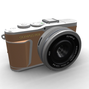 Olympus Pen E-PL9 14-42mm Pancake kit Brown